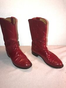 387f5214a45 Justin Classic Red Ropers Kipskin Leather Cowboy Boots L3055 Women s ...