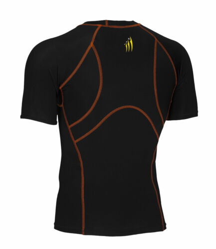 Mens New Compression Baselayer Shirts Short Sleeve Round Neck Tops All Seasons