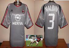 A.C.MILAN 2003/04 3rd football shirt Silver Maldini Italy Jersey V.RARE XL