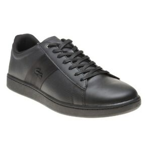 9ff0764c0 New MENS LACOSTE BLACK CARNABY EVO 119 5 SMA LEATHER Sneakers Court ...