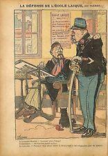 Caricature Antimaçonnique Franc-Maçons Ferdinand Buisson Ligue 1911 ILLUSTRATION
