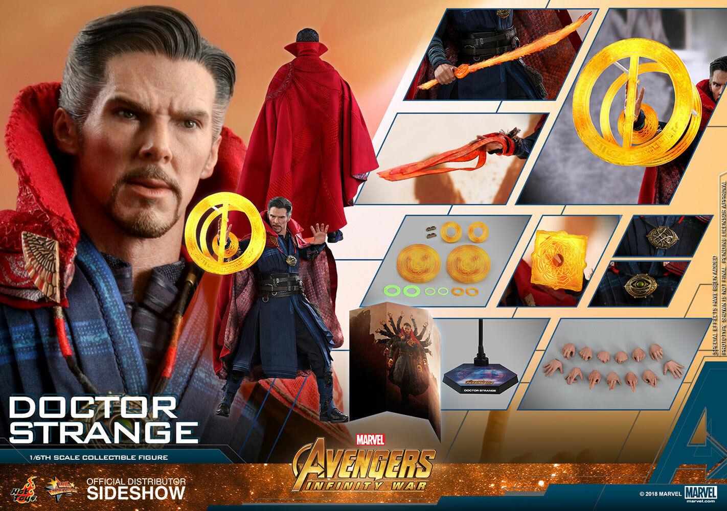 1 6 Hot Toys MMS484 MMS484 MMS484 Los Vengadores 3 Infinity Guerra Doctor Strange Stephen Figura De Acción  ventas en linea