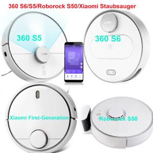 Details zu 360 S6/S5/Roborock S50/Xiaomi Vollautomatisch Staubsauger  Saugroboter LDS Weiss