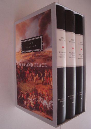 War And Peace von Leo Tolstoy (1992, Gebundene Ausgabe) 3 Book Boxset - English