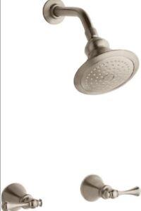 Kohler Revival K 16214 4a Bv Brushed Bronze 2 Handle Shower Faucet