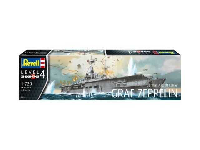 Revell 05164-1/720 Alemán Aircraft Carrier Graf Zeppelin - Nuevo