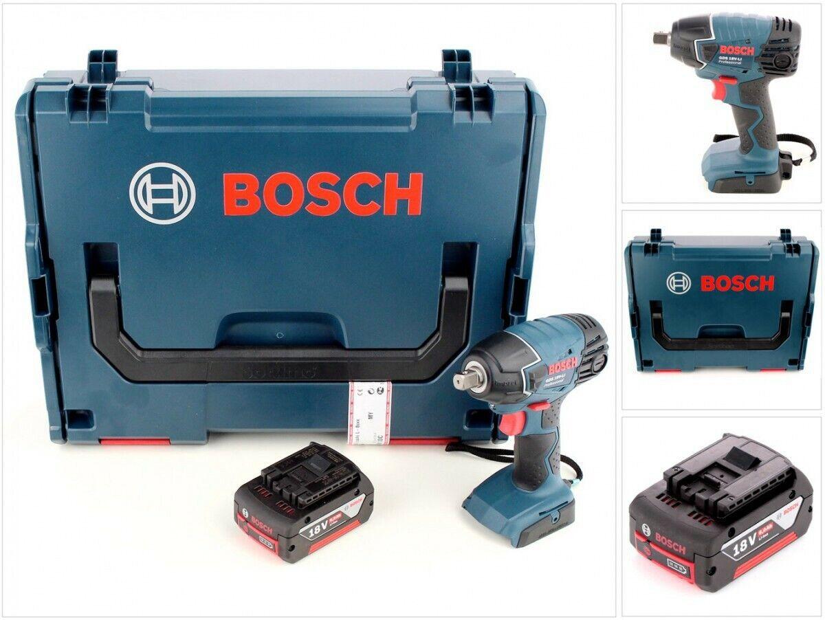 Bosch GDS 18 V-LI Professional Akku Drehschlagschrauber + 1x 5 Ah Akku + L-Boxx