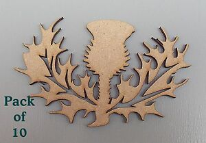 10-Pack-Thistle-Blanks-MDF-Plaques-decoration-frame-Scottish-Choose-Size-03