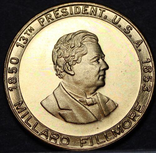 Millard Fillmore 13th President Bronze Medallion~Passed Fugitive Slave Bill~Fr//S