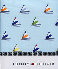 """Tommy Hilfiger Multicolor Sailboat on Sky Blue Tablecloth, 52"""" x 70"""" Rectangular"""