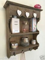 Shabby Chic Wall Unit Vintage Shelf Cupboard Cabinet Small Display Storage Heart