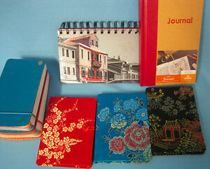 Note-Paper-Memo-Journal-Pads-NEW-Lot-of-7-Office-School-Desk-Red-Black-Blue