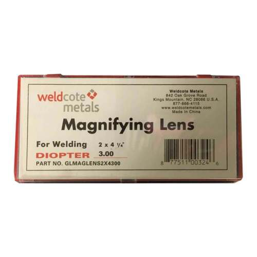 Weldcote Metals 3.00 Glass Magnifying Lens 2 x 4-1//4/""