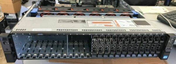 """New Dell R720xd 2.5/"""" x 24 bay empty chassis with backplane cables fan 3x risers"""
