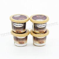 4pcs Tasty Chocolate Ice Cream Miniature 1:12 Dollhouse Fridge Toy Decor Gift