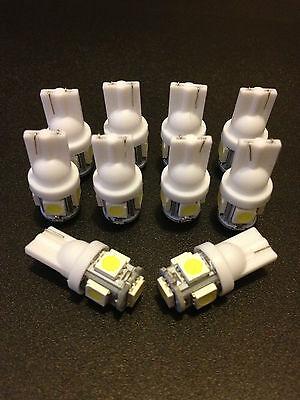 10 Bright White 5 LED 12V Interior Lightbulbs RV Camper Motorhome Trailer Lamps