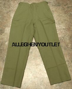 US-Army-Military-Korean-Era-M-1951-Wool-Cold-Weather-Field-Trousers-Pants-USED