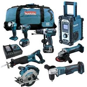 12tlg-MAKITA-18V-Profi-Akku-Werkzeug-Set-DDA351-RMJ-Winkelbohrmaschine-RFE-RME