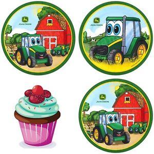 Trecker Traktor Bagger Tortenbild Party Deko Muffinaufleger Cupcake