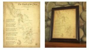 Details about Thrill of the Chase Wall Map from the original Forrest Fenn  Treasure Book