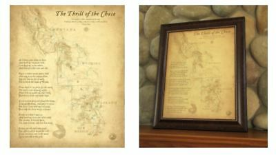 Thrill of the Chase Wall Map from the original Forrest Fenn Treasure Book |  eBay