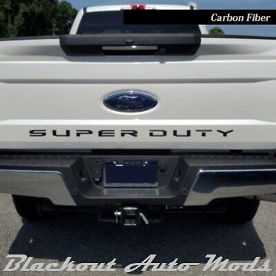 Matte Black Vinyl Decal Inlays For 2018 2019 Ford F150 Tailgate Letters New USA