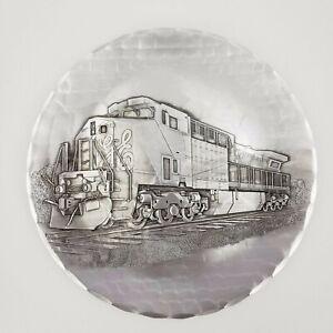 Wendell-August-Handmade-Train-Metal-Plate-In-Box