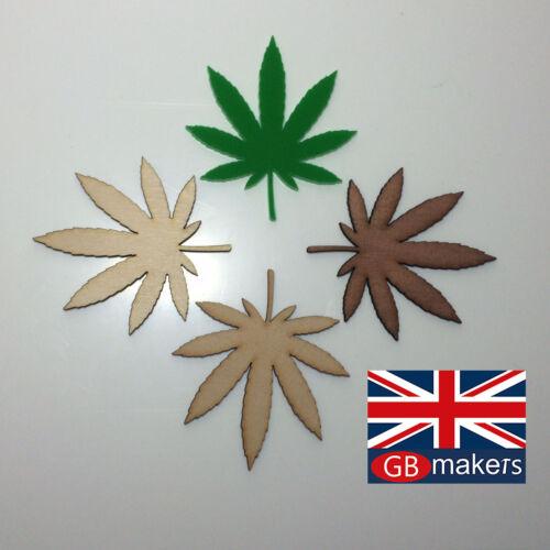 Ganja Leaf Cannabis Weed Marijuana Craft Blank 90mm