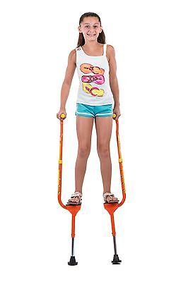 Flybar Maverick Walking Stilts For Kids (Small) - For Ages 5 to 9 - Orange