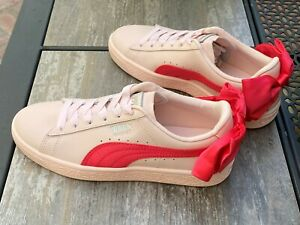 Puma-Junior-Basket-Bow-Pink-Sneakers-367321-02-Size-3-35-5