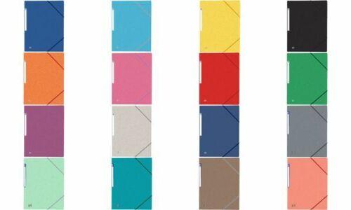 10x Elba Eckspannmappe Sammelmappe Top File Colorkarton A4 buntes Sortiment