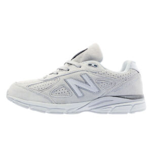 New-Balance-990-Light-Gray-Suede-Junior-Size-Women-Shoes-New-In-Box-KJ990NSG