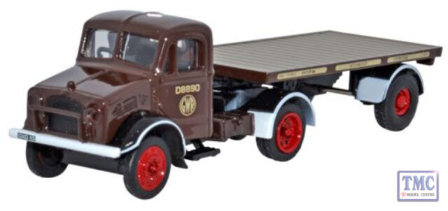 76BD008 Oxford Diecast GWR Bedford OX Flatbed Trailer 1/76 Scale OO Gauge