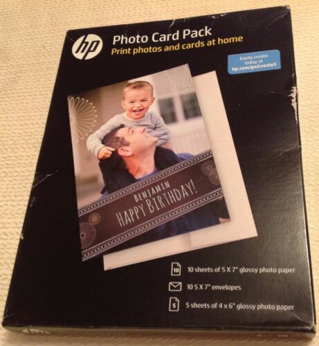 New damaged box FAST FREE SHIPPING Genuine HP Photo Card Pack