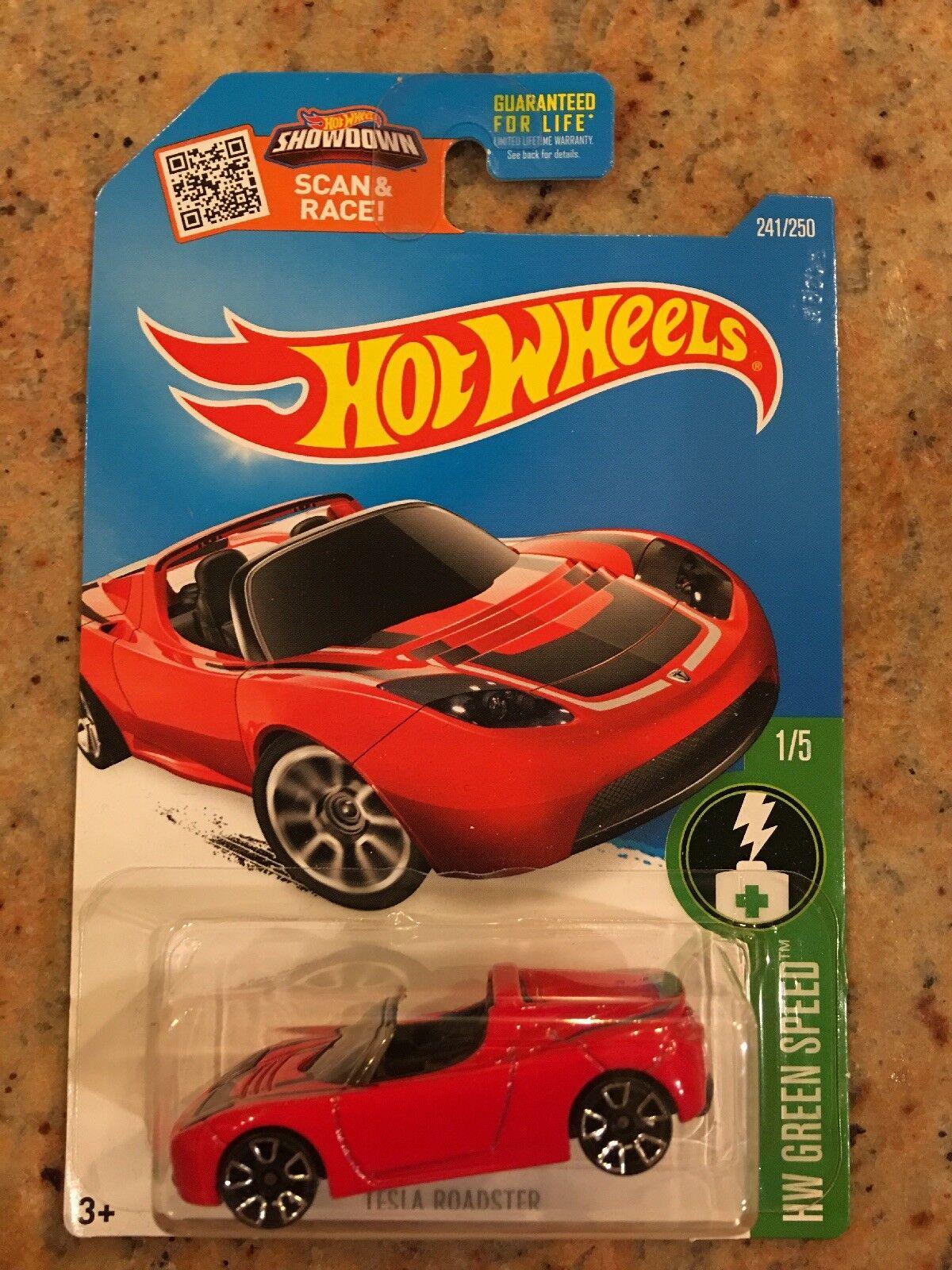 Hot wheels rot tesla roadster spacex elon musk 2016   241   250