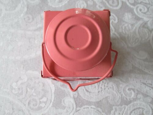 PINK metal and glass FLAMINGO tea light lantern