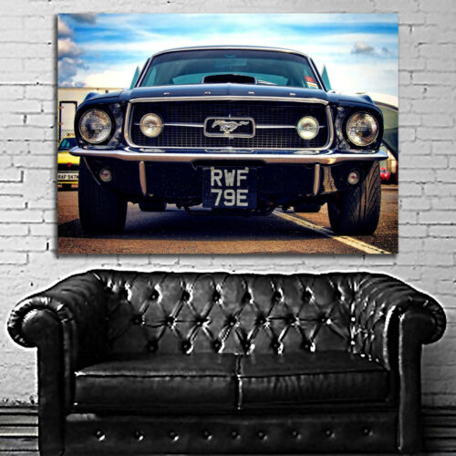 #03 Car Mustang Lowrider Muscle Ford Chevy Large Print Poster
