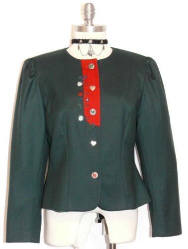 Green Wool Women German Dress Suit Short Jacket 40 8 S Ebay