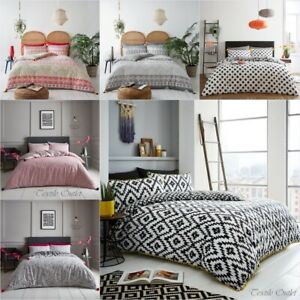 DUVET-COVER-WITH-PILLOW-CASE-QUILT-COVER-BEDDING-SET-SINGLE-DOUBLE-KING