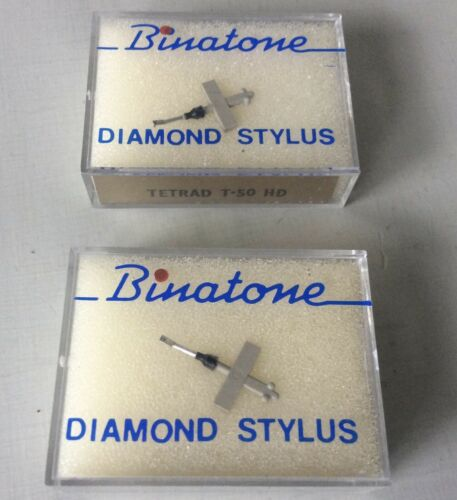 T50HD, 80D /& 110D Tetrad T-50 Diamond Stylus X2 Two Original Needles
