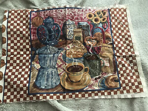 """New Coffee House Collection Pillow Panels. 14"""" Square"""