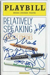Julie Kavner- Steve Guttenberg- Marlo Thomas Signé Relatively Speaking Playbill sbAYc2gj-09103043-201244146