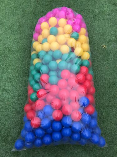 8 CM 500 BRAND NEW SOFT PLAY BALLS -BALL PIT POOL COMMERCIAL GRADE -