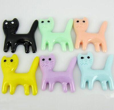 """30pcs 1-1/4"""" Mixed resin flatback cabochons Cat Appliques for Craft/Scrapbook"""