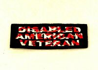 Disabled American Veteran Small Badge Biker Vest Jacket Patch Sb824