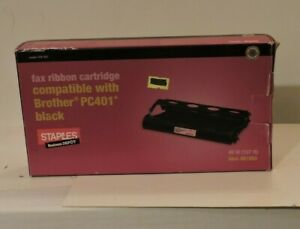 Fax-Ribbon-Cartridge-For-Brother-PC401-Black-New