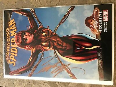 AMAZING SPIDERMAN 15 J SCOTT CAMPBELL IRON MARY JANE COLOR VARIANT NM