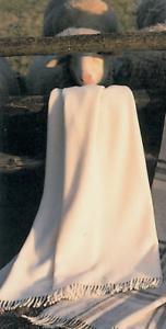 OPTI Decke aus 100/% naturbelassener Schurwolle in wollweiß-ansprechende Qualität