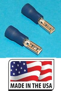16-14 .110 VINYL SPADE QUICK DISCONNECT FEMALE CONNECTOR MADE IN USA 110 100