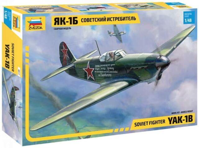 Zvezda #4817 Soviet Fighter YAK-1B 1:48 NEW 2019 !